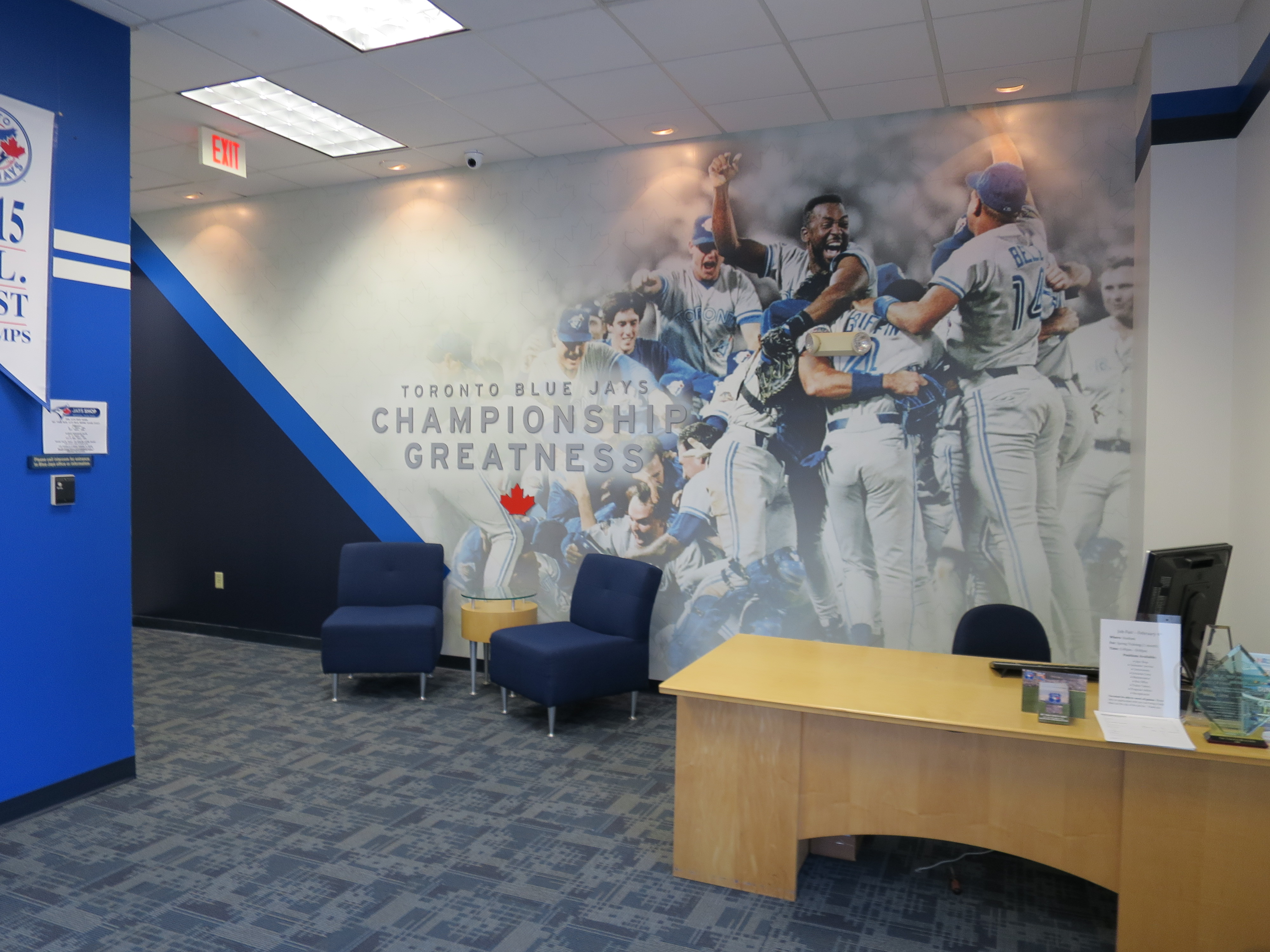 sports properties facilities oai inc large format printing wall mural dimensional letters