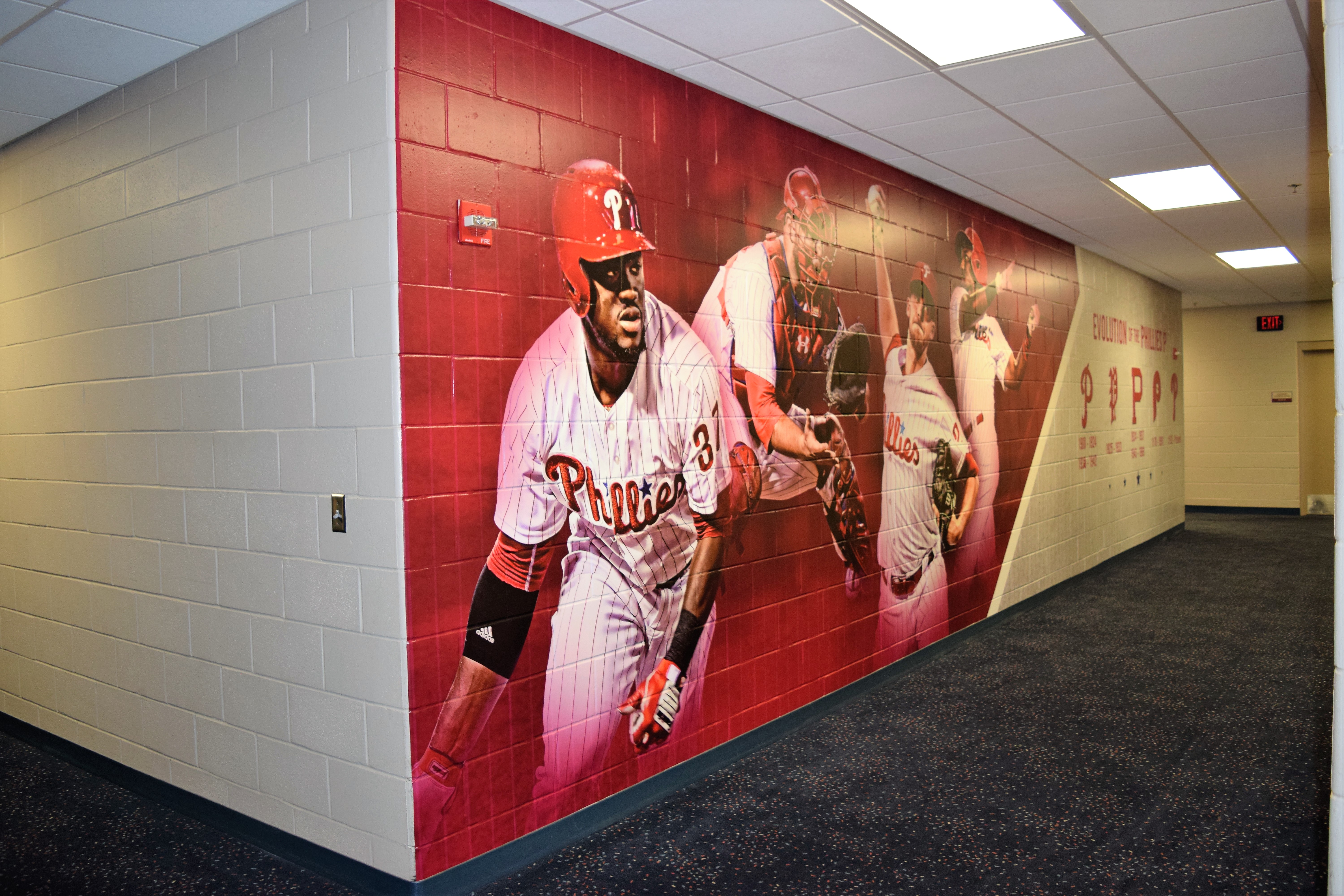 sports facility wall mural designs by oai visual branding rough texture wall mural