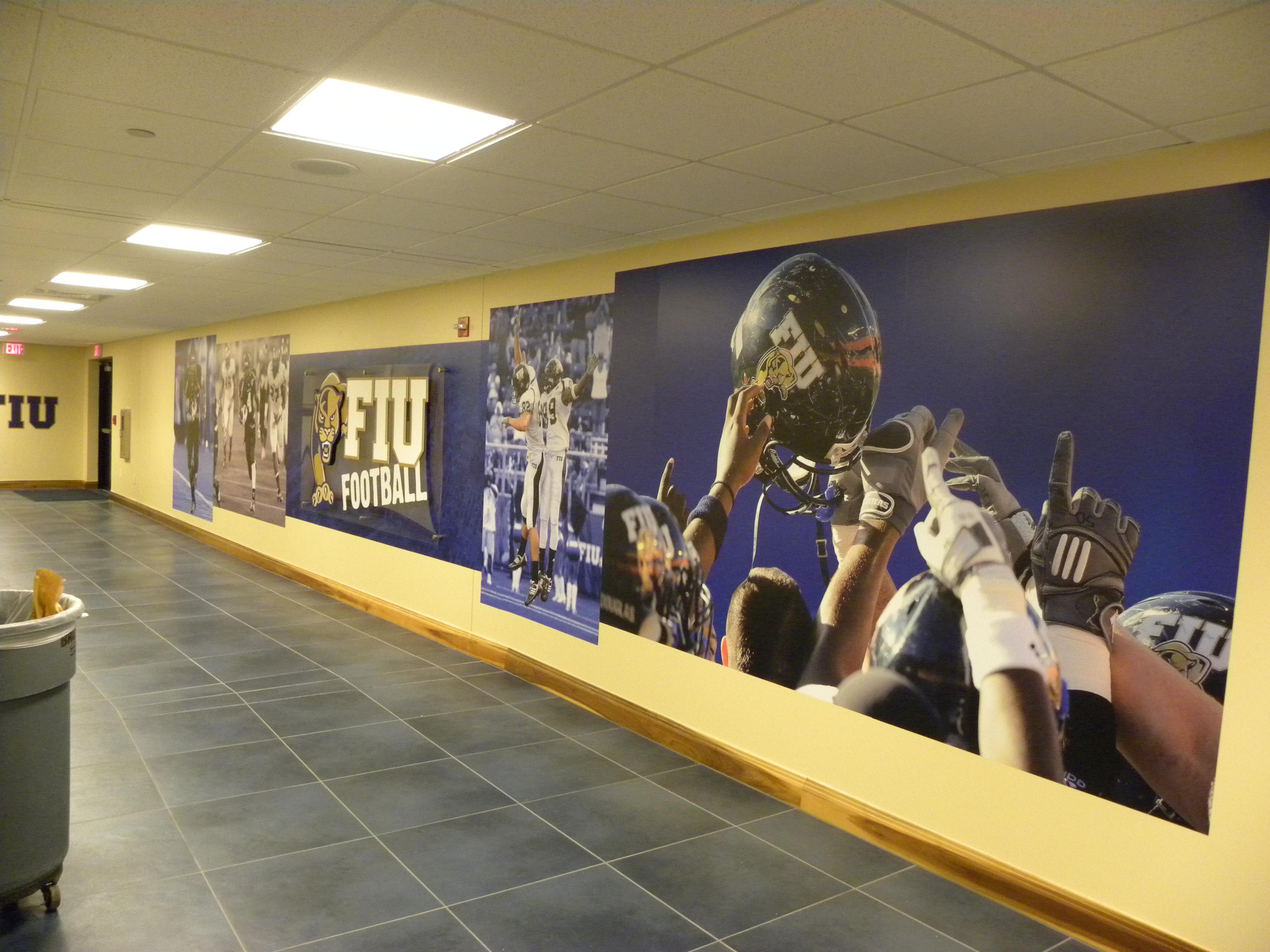 Sports Facility Wall Mural Designs By Oai Visual Branding
